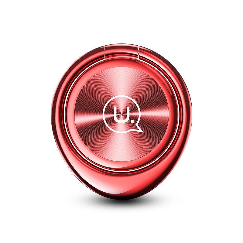 Magnetický držák mobilu na prst USAMS ZJ024 - červený ZJ024-RED