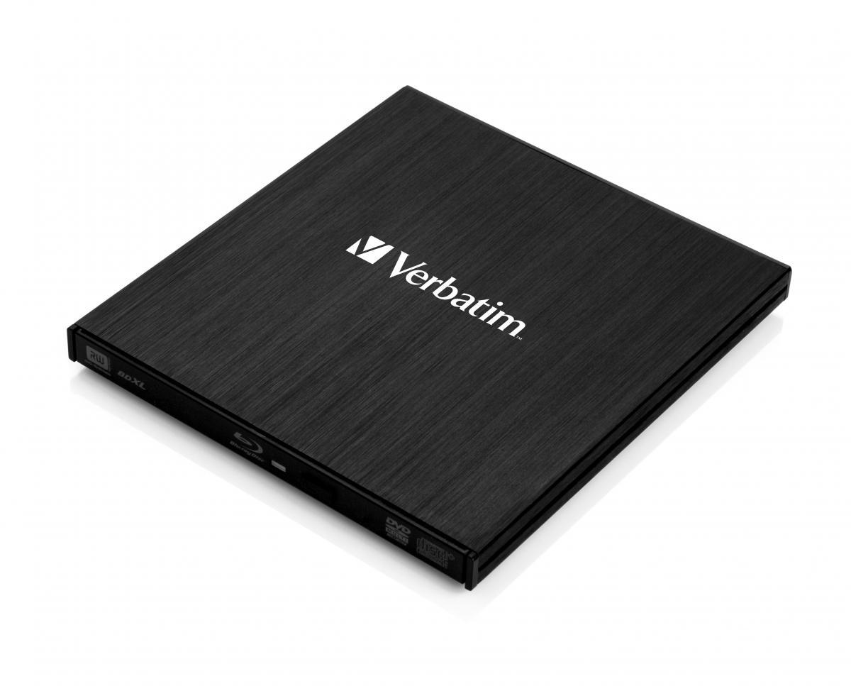VERBATIM External Slimline Blu-Ray Writer USB 3.0, SW Nero Burn & Archive, Mac/Win kompat. 43890