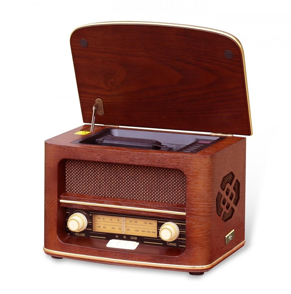 Retro rádio ORAVA RR-51 A s CD přehrávačem a USB vstupem 8586016723321
