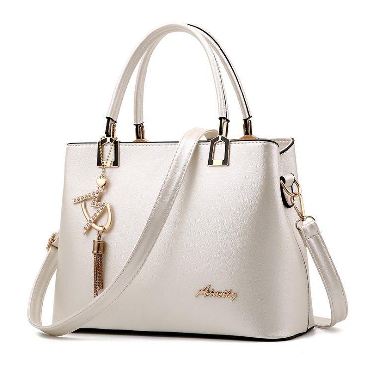Dámská elegantní kabelka Aimily, bílá