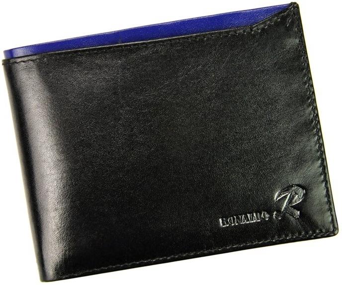 Ronaldo pánská peněženka z pravé kůže N992-VT, černo-modrá