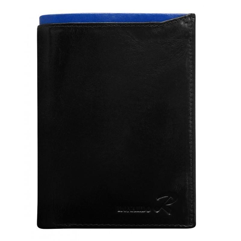 Ronaldo pánská peněženka z pravé kůže N4-VT, černo-modrá