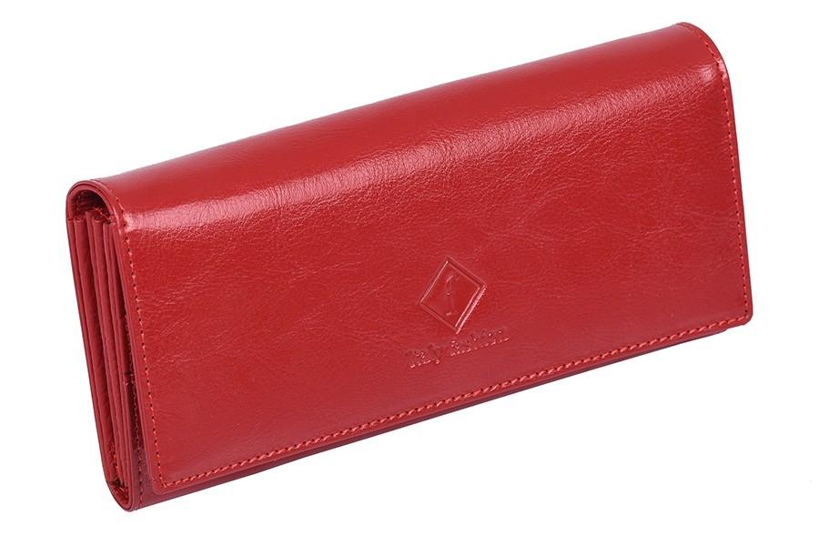 Velká dámská peněženka Italy fashion GD27 z pravé kůže, červená