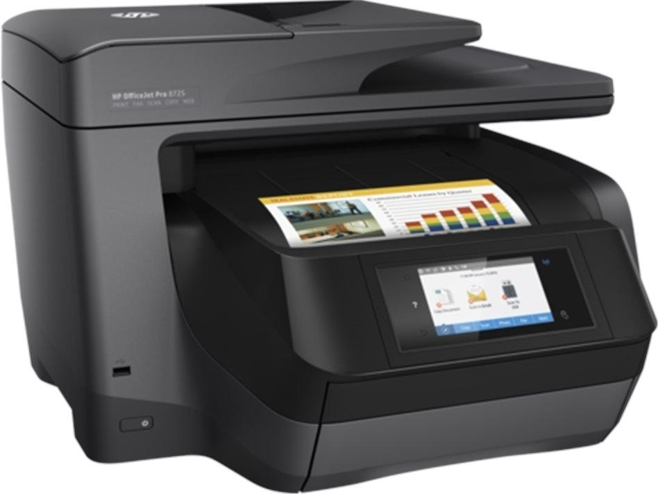 HP All-in-One Officejet Pro 8725 (A4, 24/20 ppm, USB 2.0, Ethernet, Wi-Fi, Print/Scan/Copy/Fax) M9L80A#625