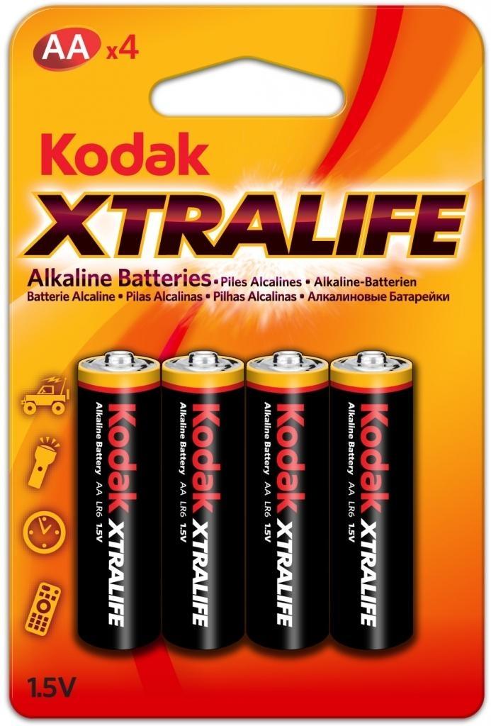 Alkalické baterie KODAK XTRALIFE AA, 4 kusy 30952027