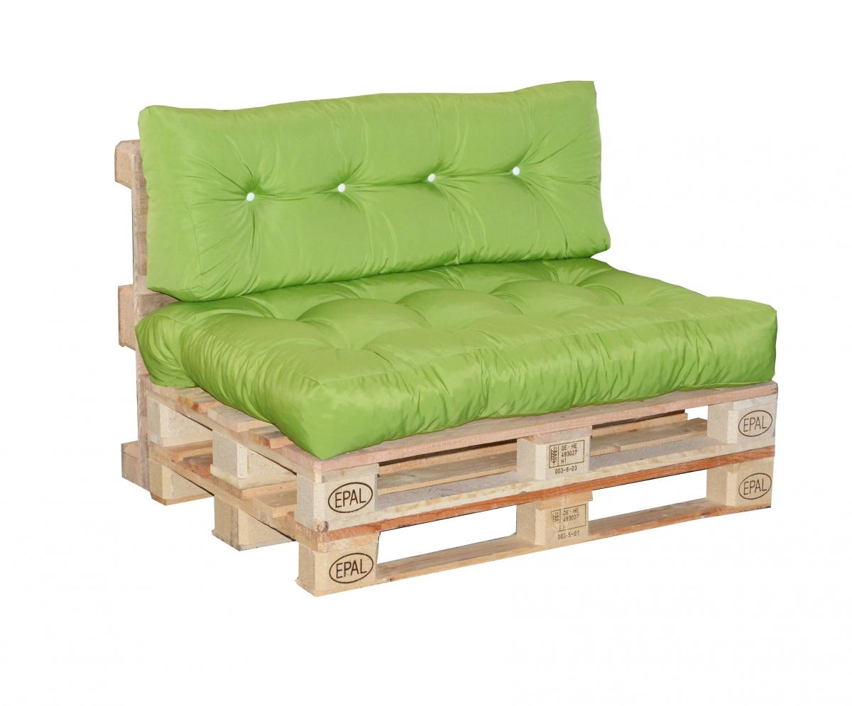 Paletové sezení s prošitím Doppler 7836, sedák + opěrka - Zelená