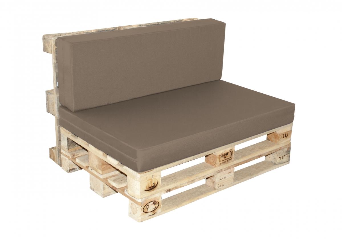 Paletové sezení Doppler 7846, sedák + opěrka - Greige