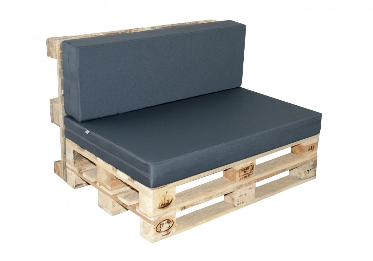 Paletové sezení Doppler 7840, sedák + opěrka - Antracit