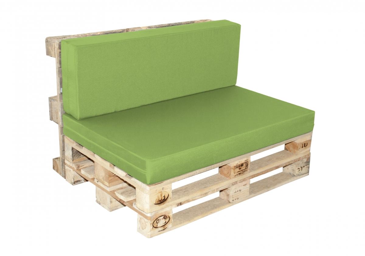 Paletové sezení Doppler 7836, sedák + opěrka - Zelená