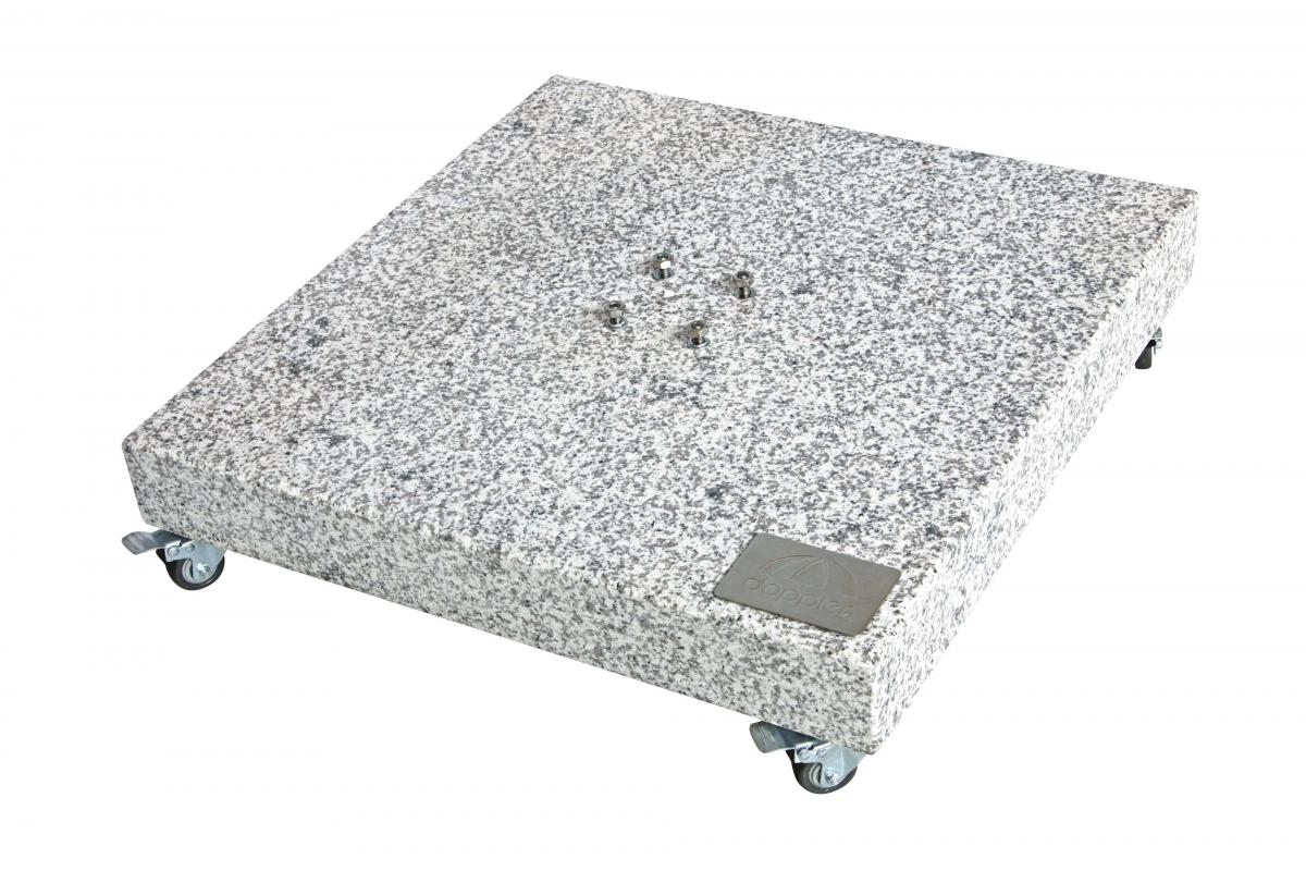Žulový stojan pro slunečník s kolečky, 140 kg