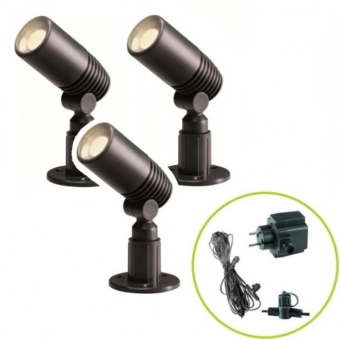 Set Garden Lights Alder - 3x LED svítidlo 2 W + trafo 10 W + kabel 8 m