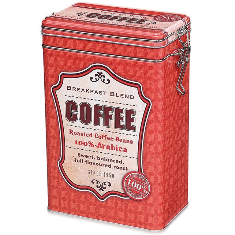 Zassenhaus retro dóza na kávu - červená