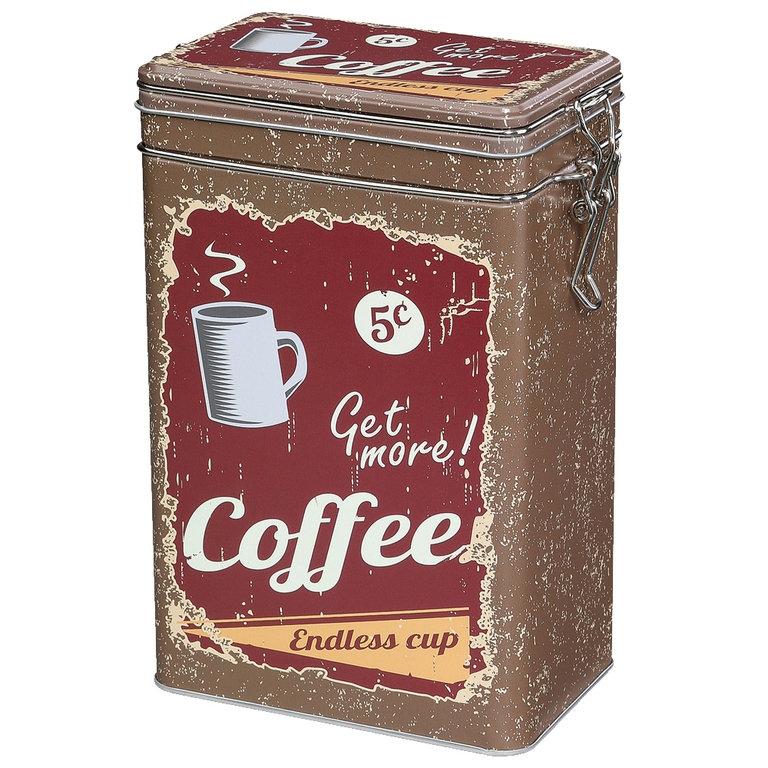 Zassenhaus retro dóza na kávu - hnědá