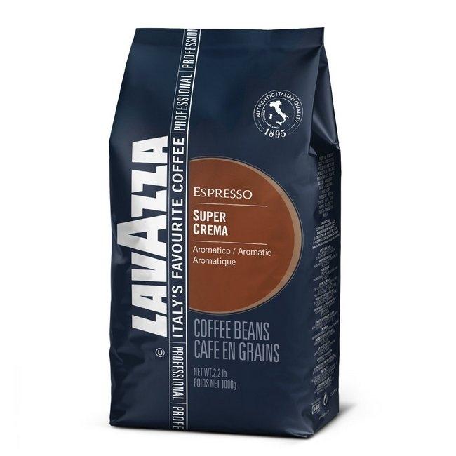 Lavazza Super Crema zrnková káva, 1 kg