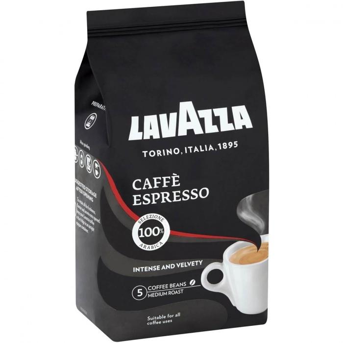 Lavazza Espresso zrnková káva, 100% Arabica, 1 kg