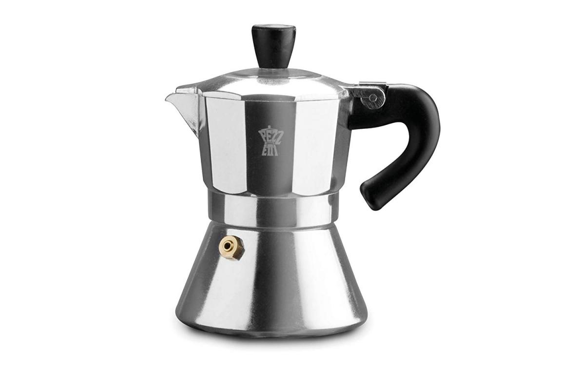 Pezzetti Bellexpress - hliníkový kávovar s okénkem, 3 šálky - stříbrná