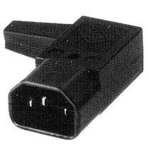 Konektor síťový 230V/M zahnutý 90 stupňů IEC C14