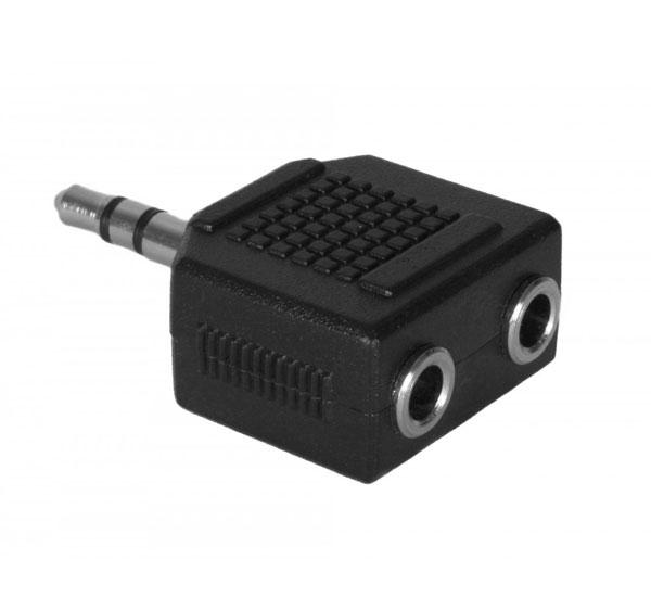 Adaptér stereojack 3.5 - 2x3.5 M/F