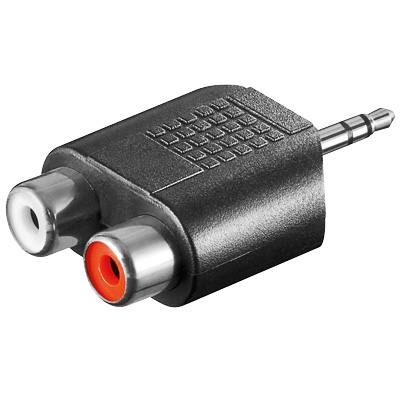 Adaptér stereojack 3.5 - 2x cinch M/F