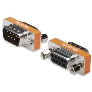 Redukce 9M-9F null modem krátá