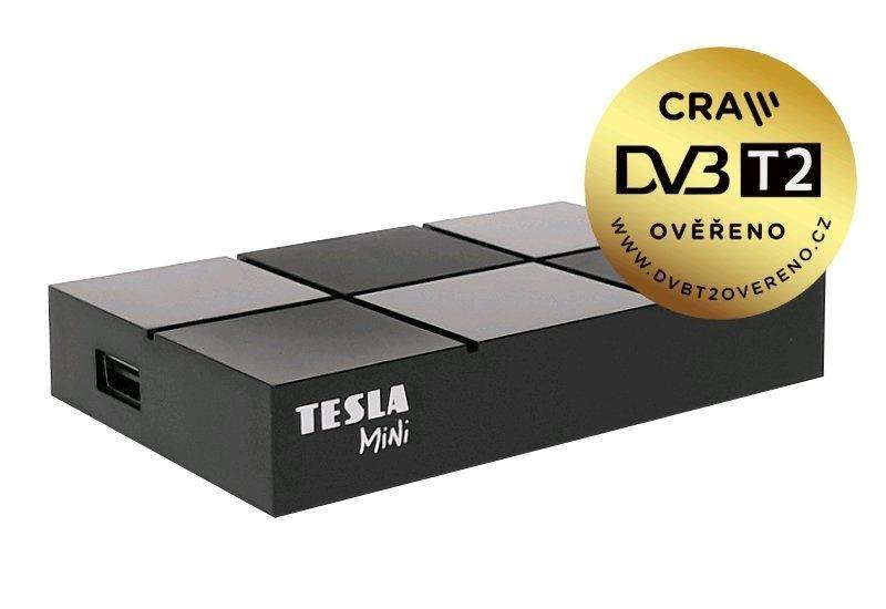 DVB-T2 přijímač TESLA TE-380 mini, H.265 (HEVC)