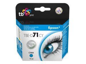 Azurová inkoustová kazeta TB kompatibilní s Epson T0712 Cyan - Alternativní TBE-D71CY