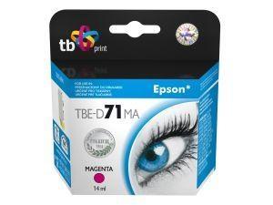 Purpurová inkoustová kazeta TB kompatibilní s Epson T0713 Magenta - Alternativní TBE-D71MA