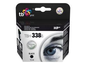 Černá inkoustová tisková kazeta HP 338 (HP338, HP-338, C8765EE), 12ml TB - Alternativní TBH-338B