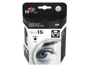 Velká černá inkoustová tisková kazeta HP 15 (HP15, HP-15, C6615DE), 42ml TB - Alternativní TBH-615B