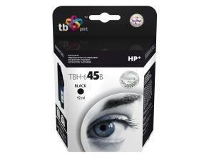 Velká černá inkoustová tisková kazeta HP 45 (HP45, HP-45, 51645AE), 42ml TB - Alternativní TBH-645B