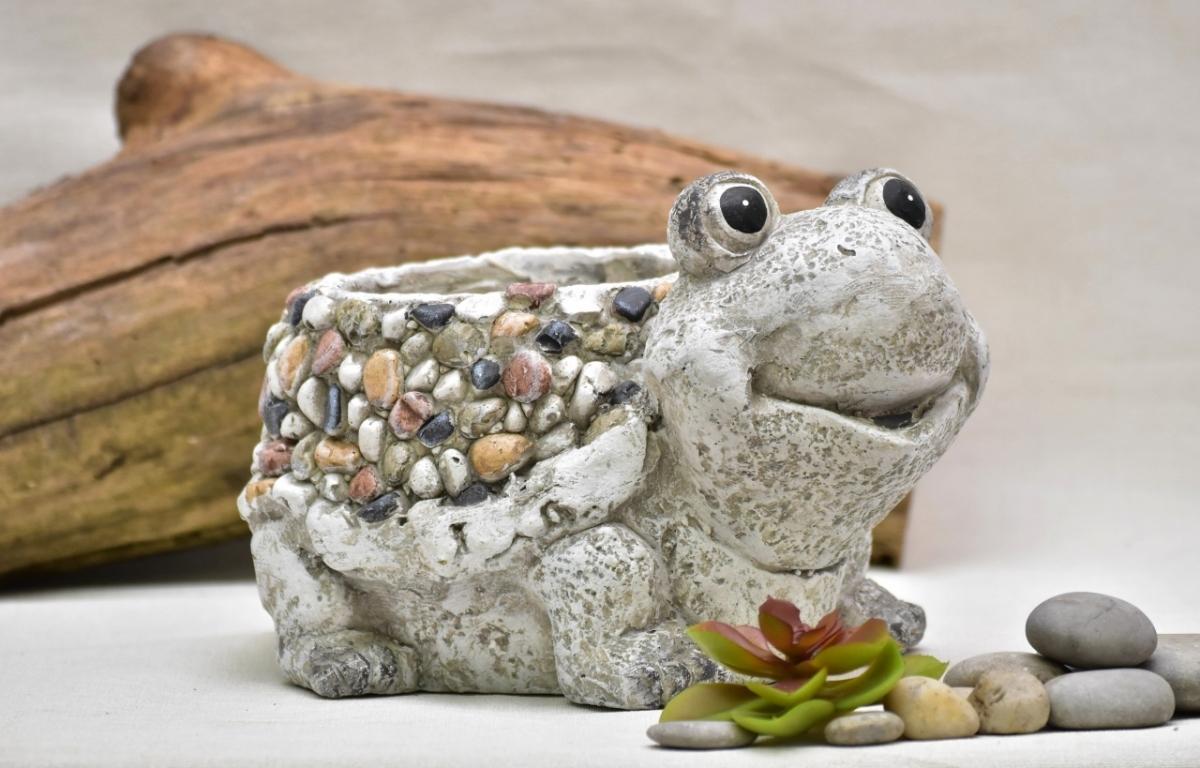 Květináč želva Bětka kamínky 17 cm