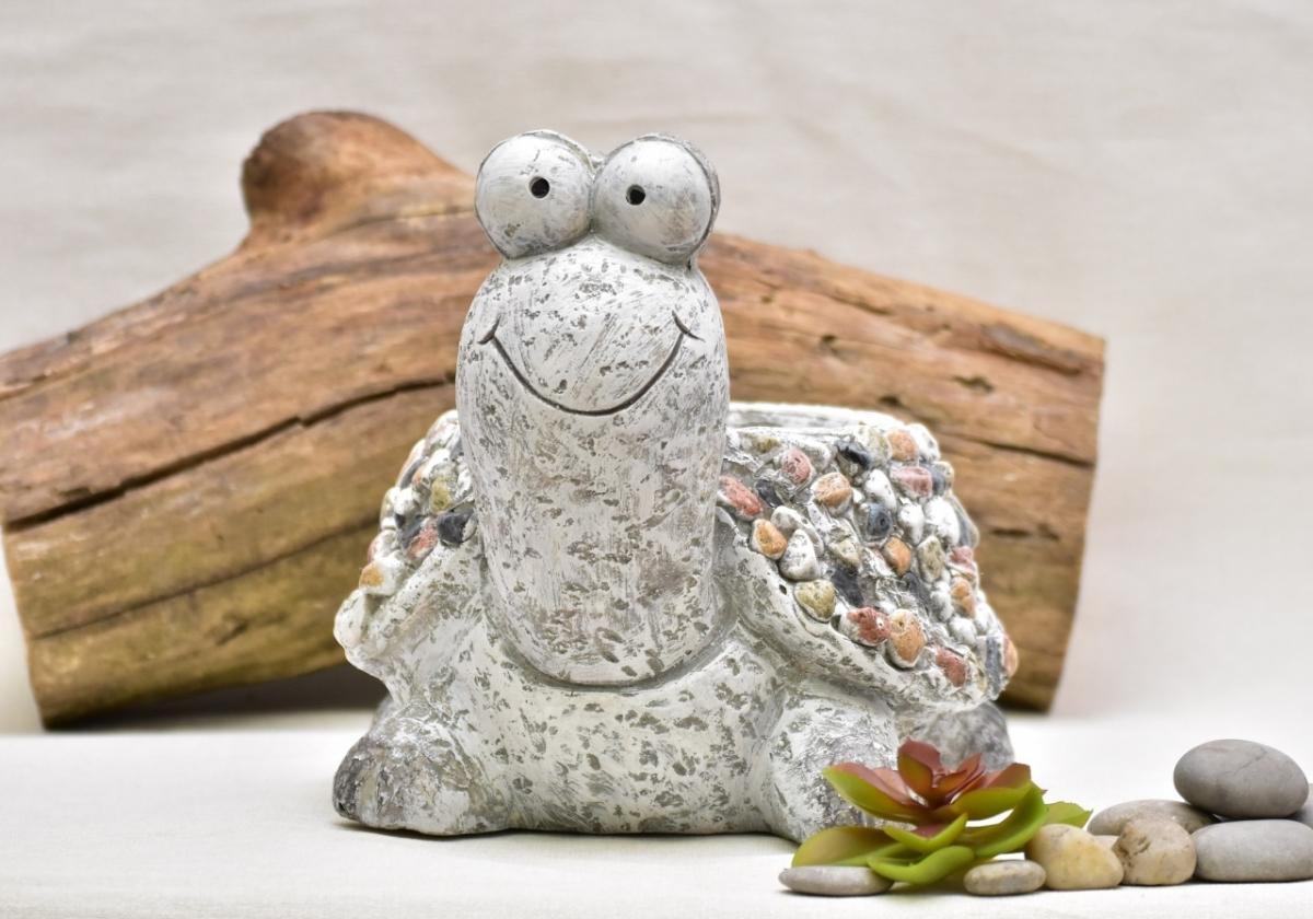 Květináč želva Bětka kamínky 23,5 cm