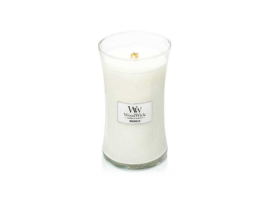 AŽ 130 HODIN HOŘENÍ! Svíčka WoodWick Magnolia 609,5 g