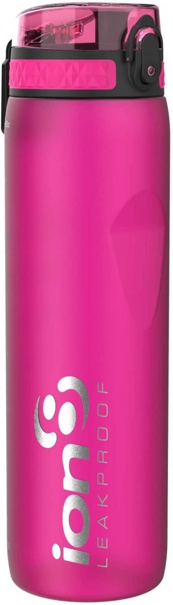 Lahev na vodu Ion8 One Touch Pink, 1000 ml - růžová