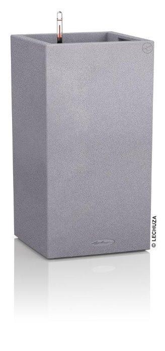 Květináč Lechuza Canto Tower - Kamenná šedá, rozměr 40