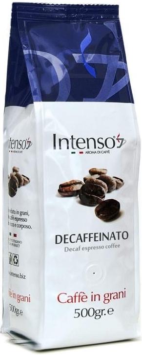 Intenso Decaffeinato zrnková káva bez kofeinu, 500 gramů