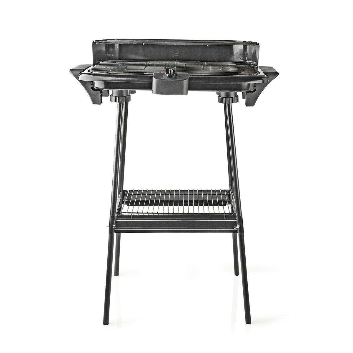Elektrický obdélníkový gril NEDIS BBQE111BK, 46 × 28 cm, 2 000 W