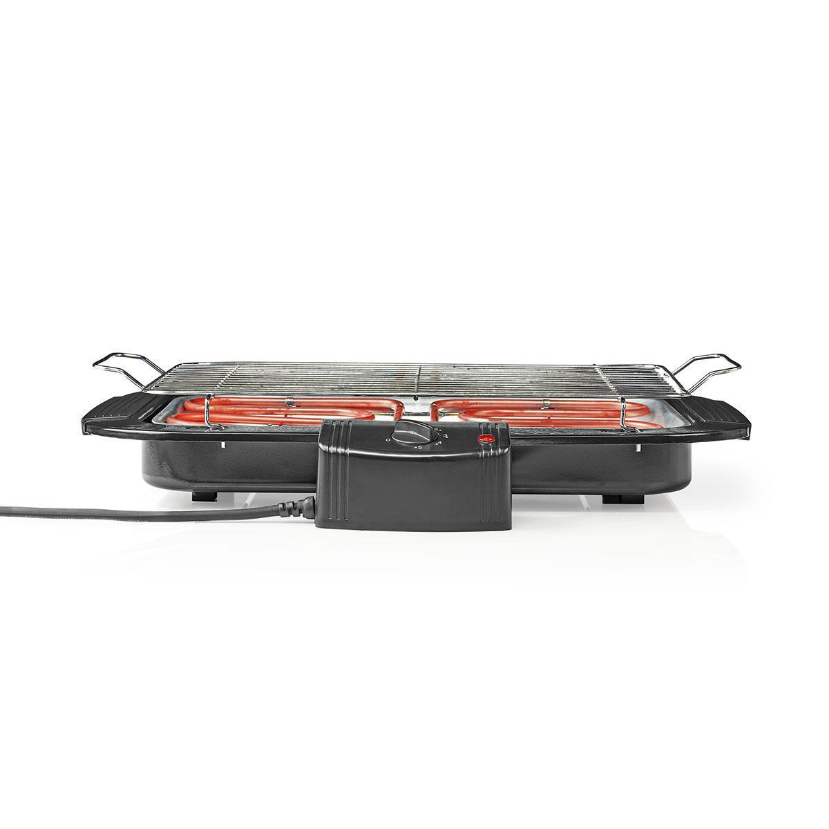 Elektrický obdélníkový gril NEDIS BBQE110BK, 38 × 22 cm, 2 000 W
