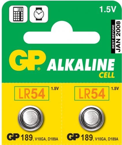 Knoflíkové baterie GP Alkaline LR54 1.5V, 1ks