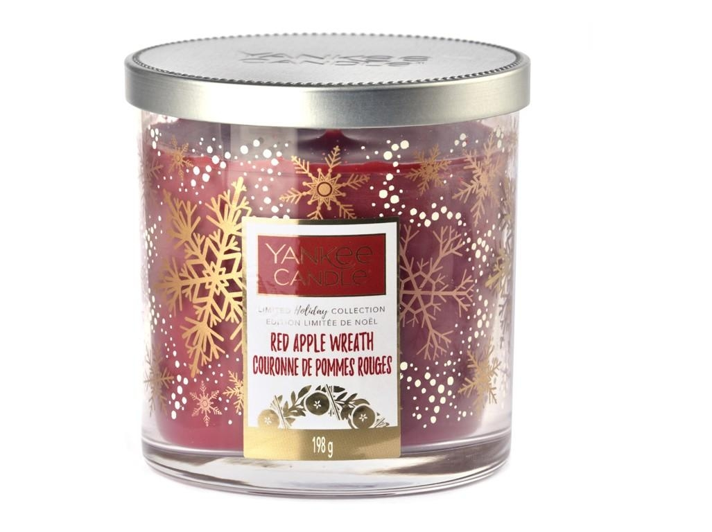 Vonná svíčka Yankee Candle Red Apple Wreath Limited Decor