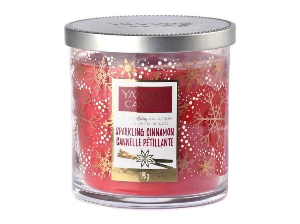 Vonná svíčka Yankee Candle Sparkling Cinnamon Limited Decor