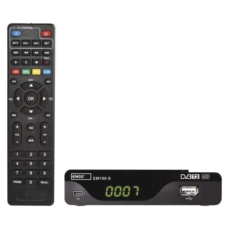 DVB-T2 přijímač Emos EM190-S