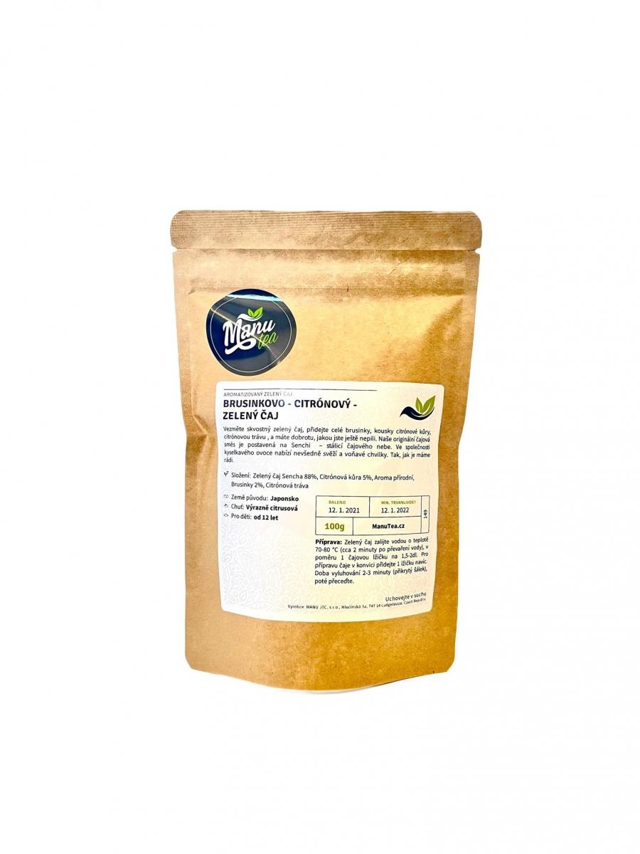 Zelený čaj ManuTea Brusinkovo-citrónový - 100 g