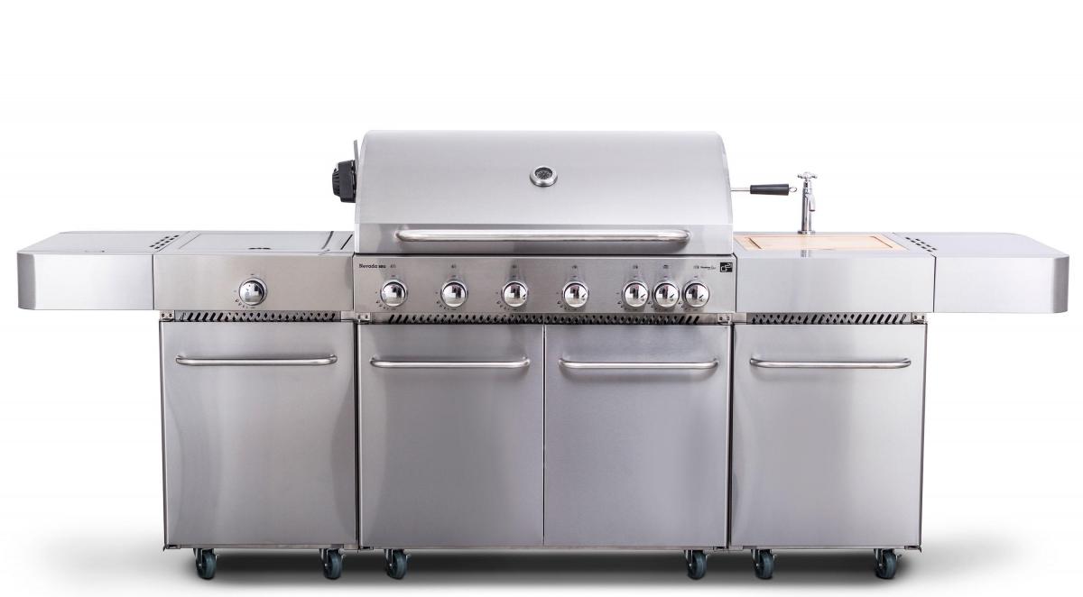 Plynový gril G21 Nevada, BBQ kuchyně Premium Line 7 hořáků + zdarma redukční ventil