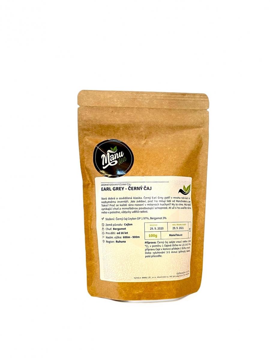 Černý čaj ManuTea Earl grey - 50 g