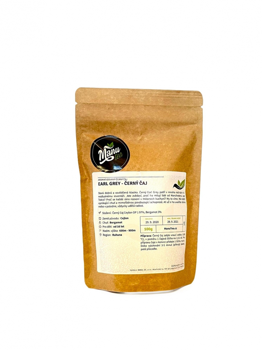 Černý čaj ManuTea Earl grey - 100 g