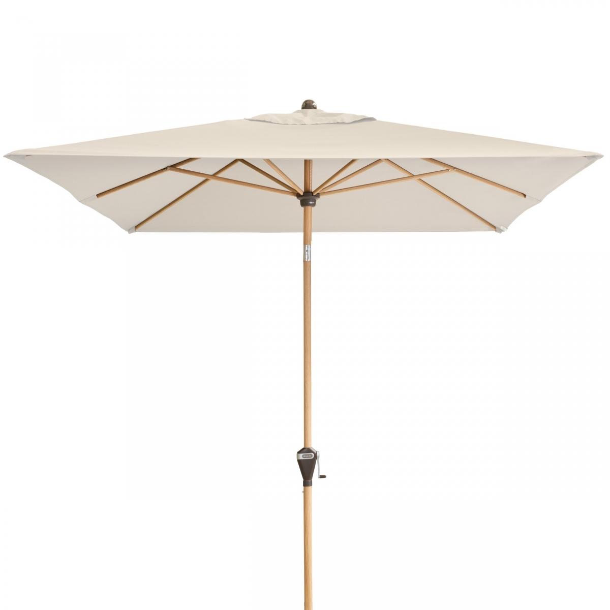 Slunečník Doppler Alu Wood naklápěcí 200x300 - 820 Přírodní