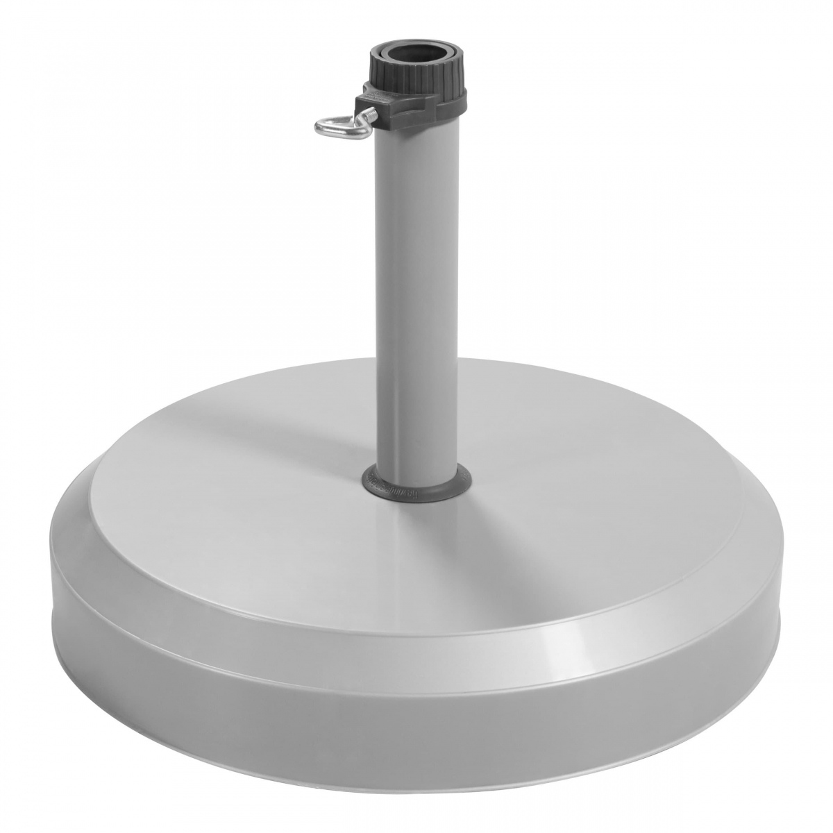 Betonový stojan pro zahradní slunečníky 25 kg - Stříbrná