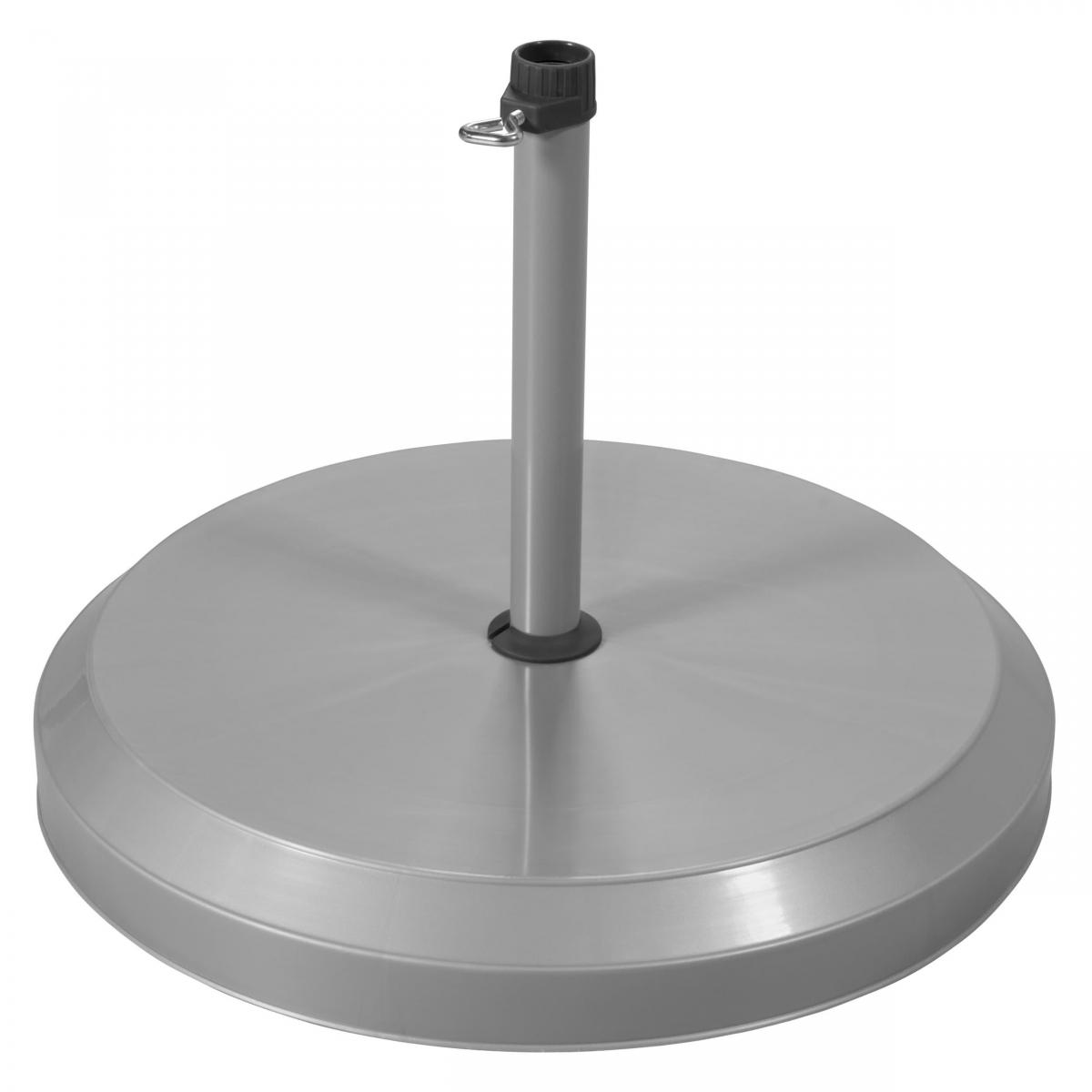 Betonový stojan pro zahradní slunečníky 20 kg - Stříbrná