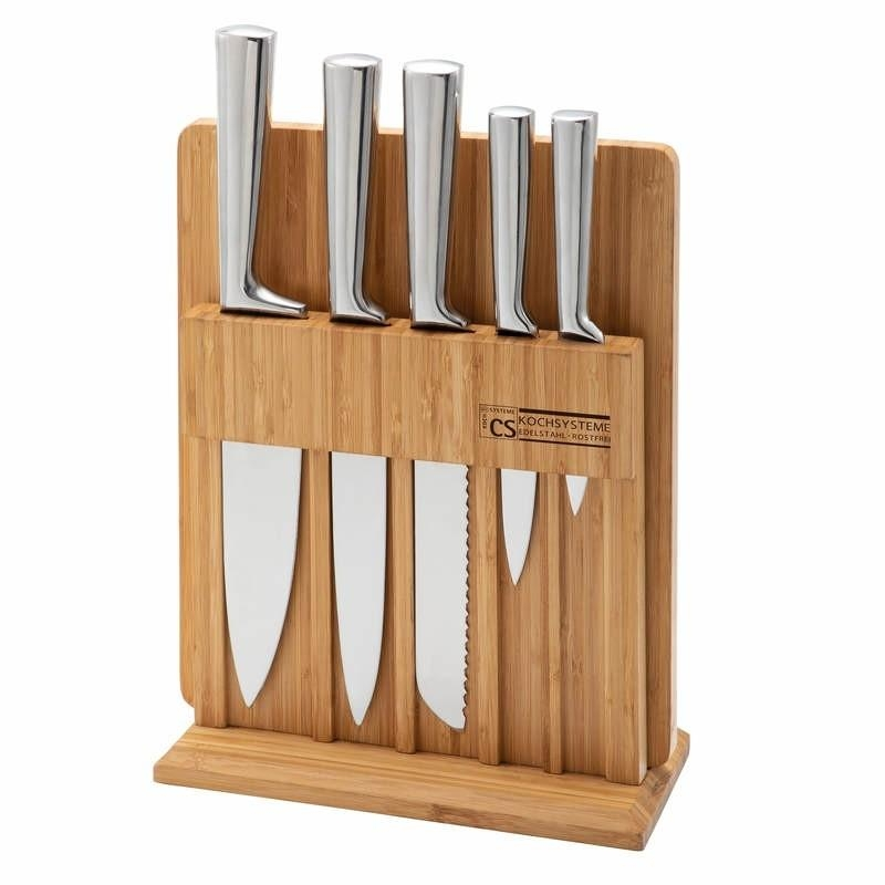 Sada nožů ve stojanu s prkénkem 7 ks SOEST